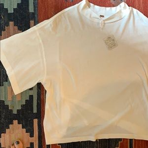 Free people drapey white t shirt L